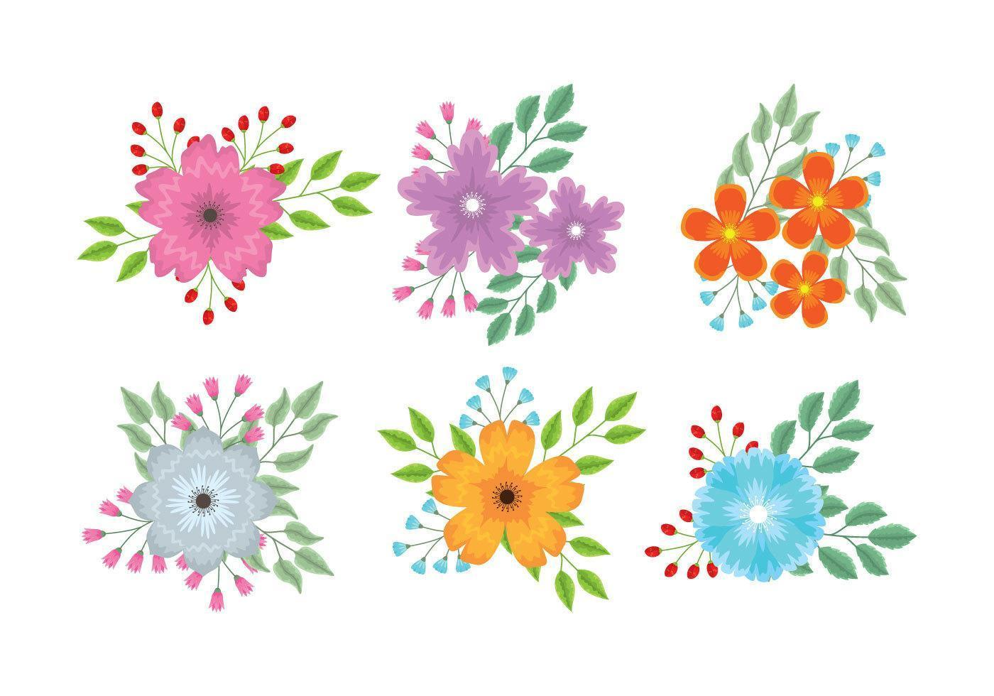 Flower clipart set