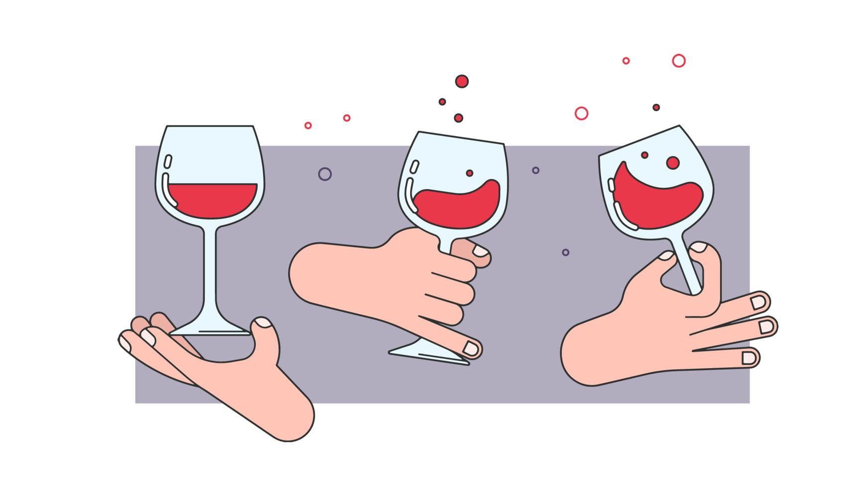 Vin sommelier vecteur