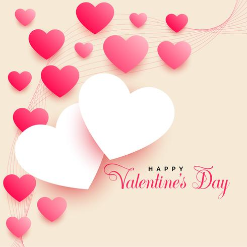 Fondo hermoso día de San Valentín con hermosos corazones