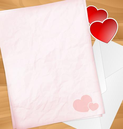 Sweet Valentine letter with stickers, graphic illustratin vector