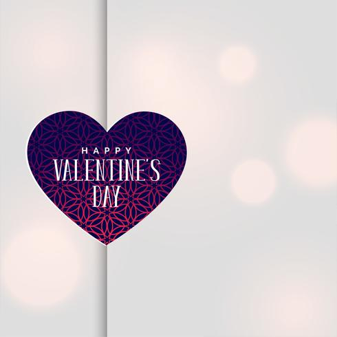 feliz día de San Valentín saludo fondo bokeh