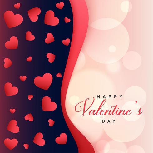 beaux coeurs fond salutation saint valentin
