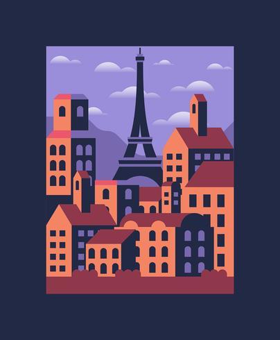 Paris Illustration vector