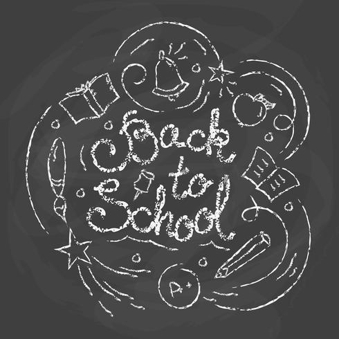 Retour à la carte d'école. Illustration vectorielle