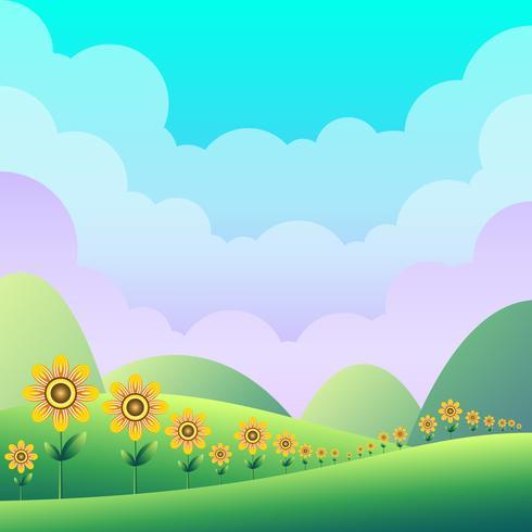 Fond d'illustration vert printemps