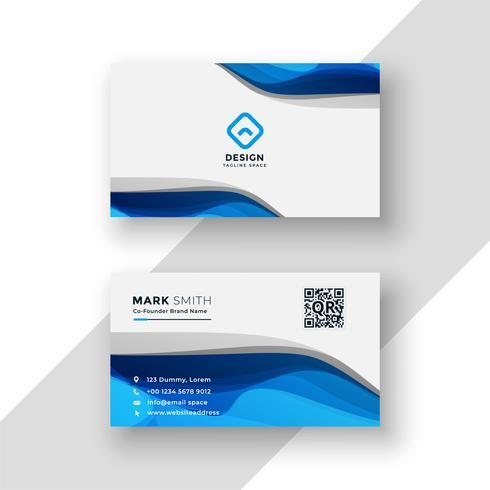 modelo moderno de cartão abstrato azul