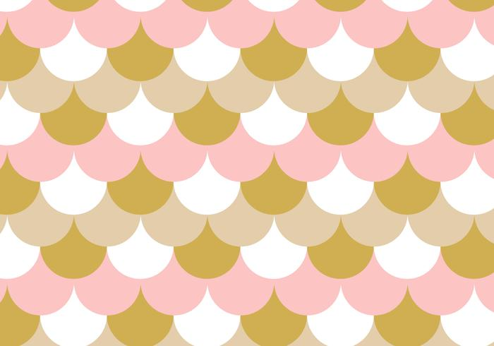 Fish Scales Rose Gold Background Pattern vector