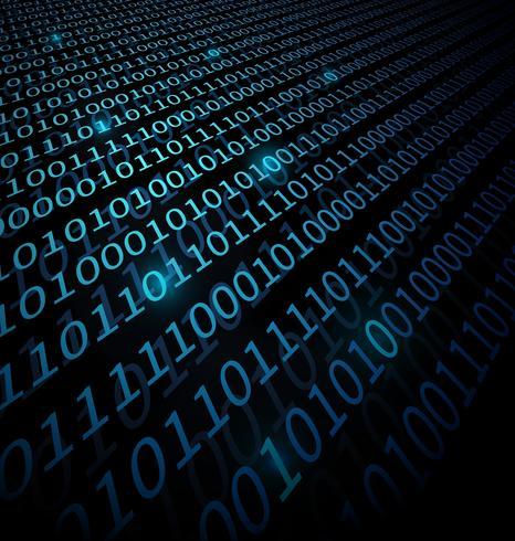 Sfondo dati binari