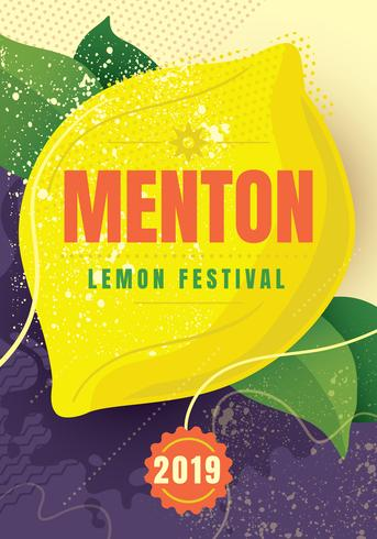 Menton France lemon festival vector