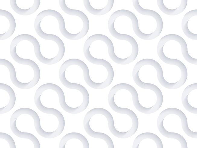 3D papel branco Art Vector Background