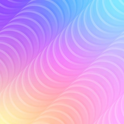 Linee ondulate pastello sfondo vettore