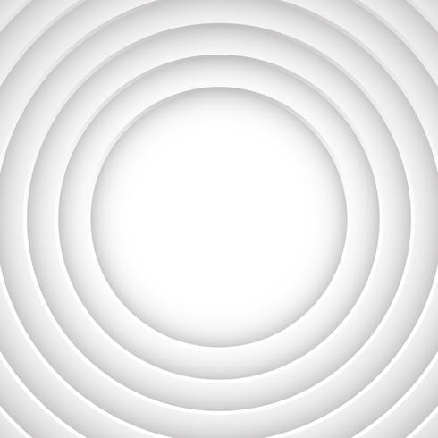 Circular Buraco Ilusão Branco Fundo Vector