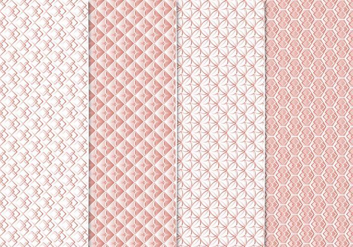 Patrones sin fisuras de oro rosa