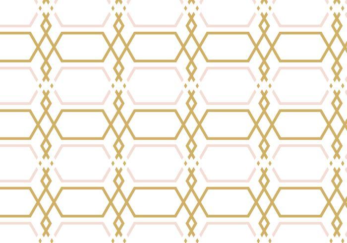 Geometrischer Rosen-Goldmuster-Hintergrund