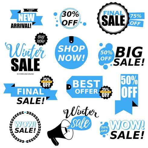 Försäljning klistermärke samling vektor