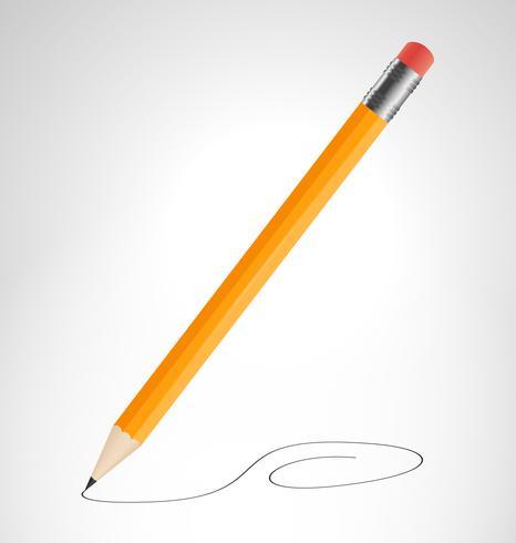 Bleistift zeichnet Kurve
