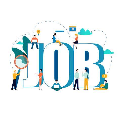 Job search recruitment concept vector