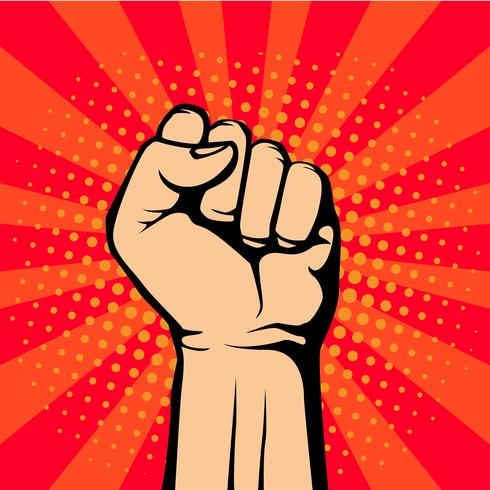 Protest Fist Pop Art Style vector