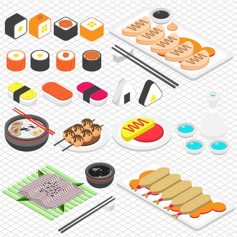 Illustration des grafischen japanischen Lebensmittelkonzeptes der Informationen vektor
