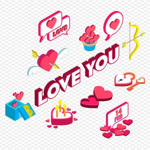 illustrazione del concetto di icona grafico San Valentino informazioni vettore