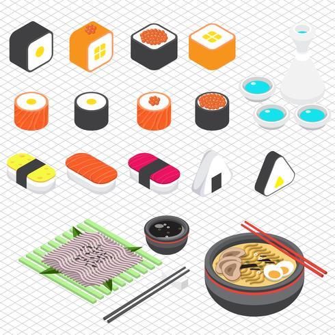Ilustración del concepto de información gráfica comida japonesa vector