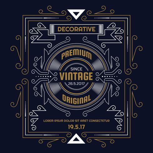 Vintage flyer background Design Template vector