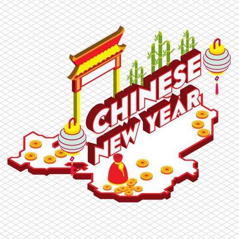 illustrazione del concetto di grafica cinese sfondo informazioni vettore