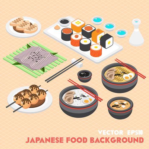 Ilustración del concepto de información gráfica comida japonesa
