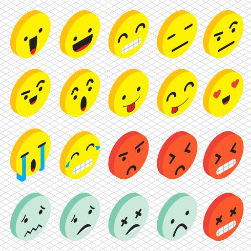 illustration of info graphic emoticons icon concept