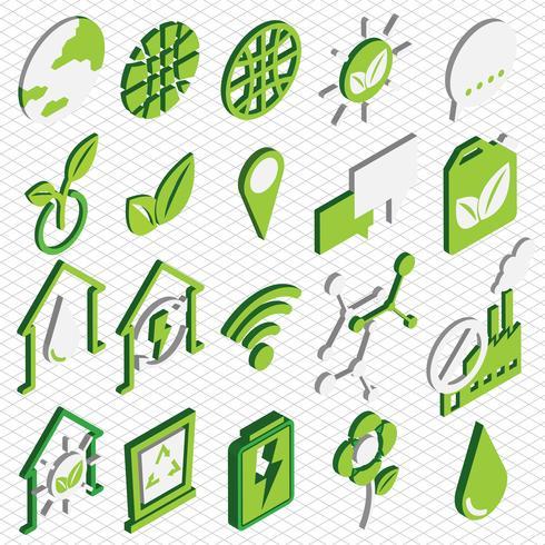 ilustração do conceito de informação gráfica eco ícones definir conceito vetor