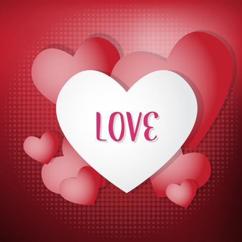Fondo de San Valentín plantilla de diseño, ilustración vectorial, volantes, fondos de pantalla