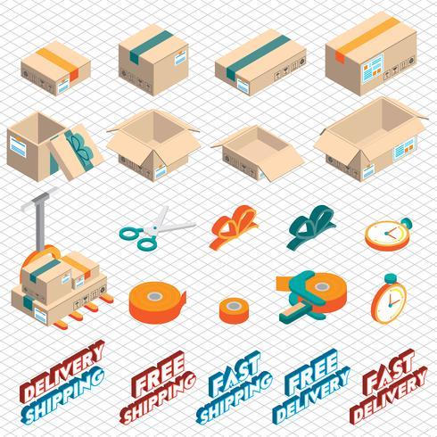illustration du concept d'icône graphique livraison info