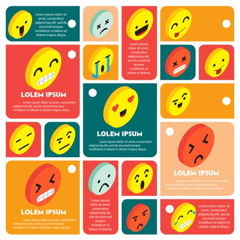 illustration of info graphic emoticons icon concept vector