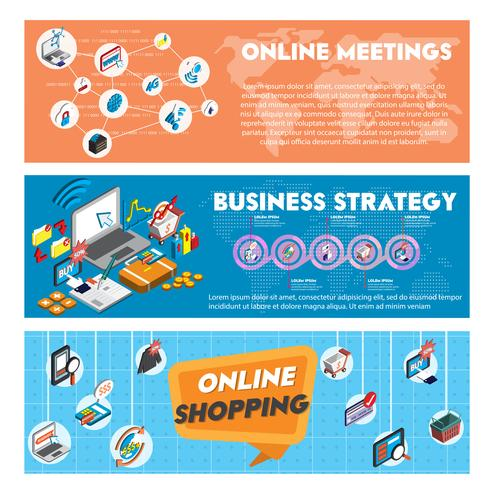 illustration of info graphic business concept in isometric 3d graphic vector