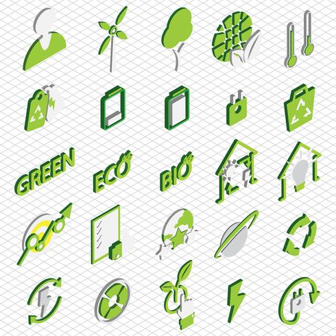 illustration of info graphic eco icons set concept vector
