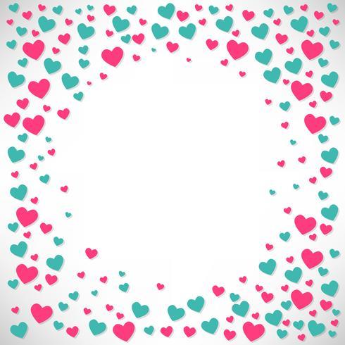 Fondo de San Valentín plantilla de diseño, ilustración vectorial, volantes, fondos de pantalla vector