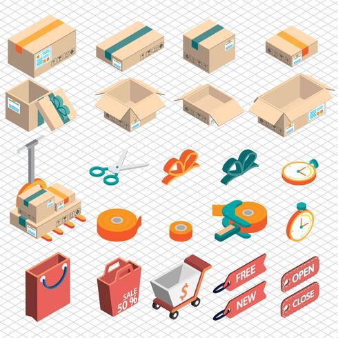 ilustração do conceito de ícone de entrega gráfica de informação
