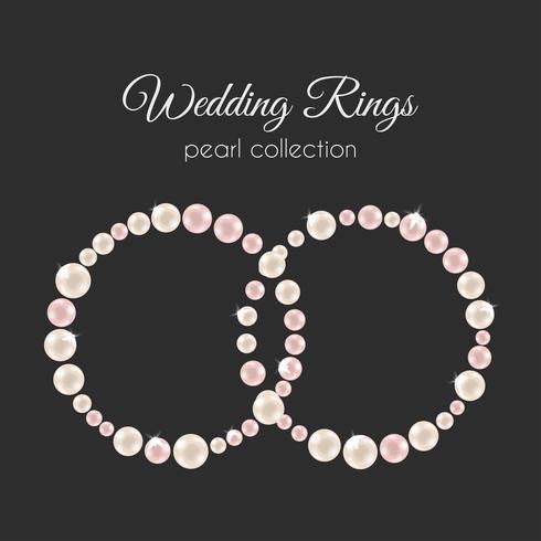 Anelli di perle Telaio Vector a forma di cerchio. Design di perle rosa.