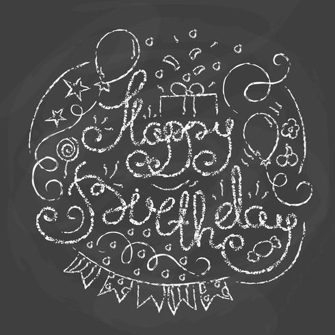 Feliz cumpleaños diseño tipográfico. vector