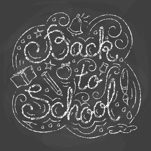 Tarjeta de vuelta a la escuela. Ilustración vectorial vector