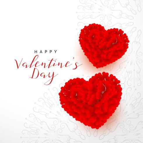 San Valentino bellissimo sfondo con due cuori rosa rossa