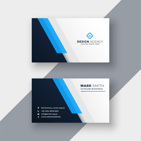 minimal blå visitkort design mall