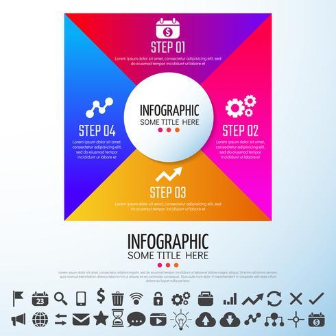 infografía plantilla de diseño vector