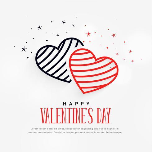 Día de San Valentín creativo corazones con fondo de estrellas