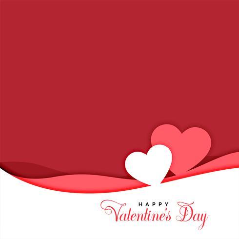 två hjärtan i papperskär stil valentines dag hälsning