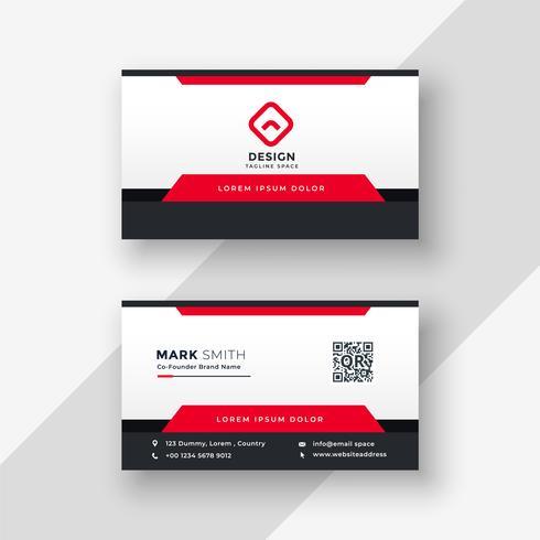 diseño profesional de tarjeta roja