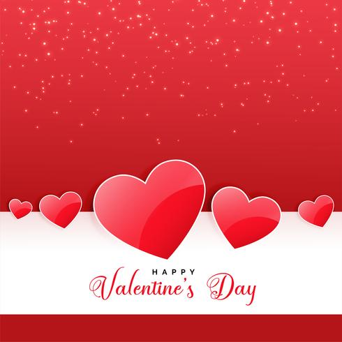 glänsande hjärtan bakgrund för härliga valentines dag