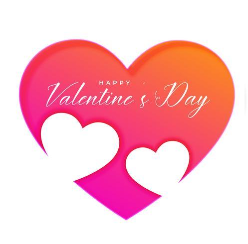 Fondo de corazones de día de San Valentín creativo