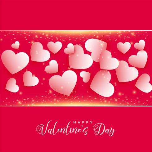 feliz día de san valentín precioso fondo de corazones