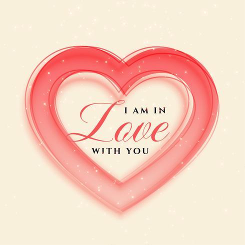 eleganter Herzrahmen-Valentinstaghintergrund